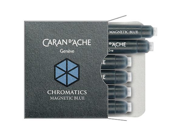 Caran d'Ache Inktpatronen Magnetic Blue