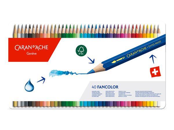 Caran d'Ache Fancolor Kleurpotloden Blik van 40