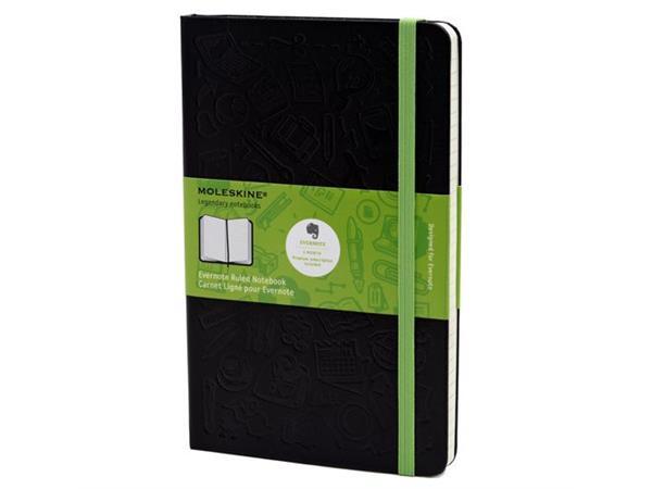 Moleskine Ruled Evernote Notebook Large Black Hard Cover