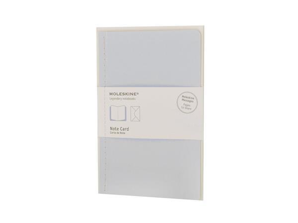Moleskine Note Card Large Poche Blue Pastel