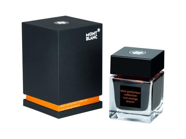 Montblanc Inktfles 50ml Elixir Leather Cuir Orange Brown