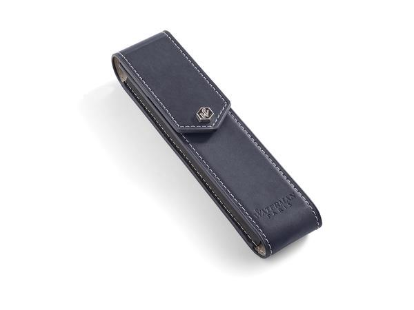 Waterman Leather Pen Pouch Dark Blue
