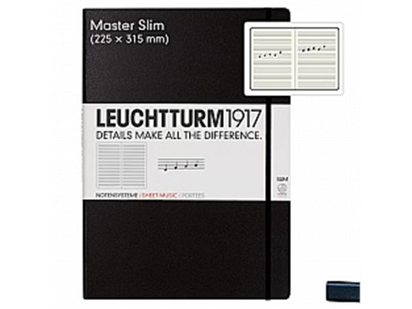 Leuchtturm notitieboek harde kaft Master Slim A4 harde kaft muziek zwart