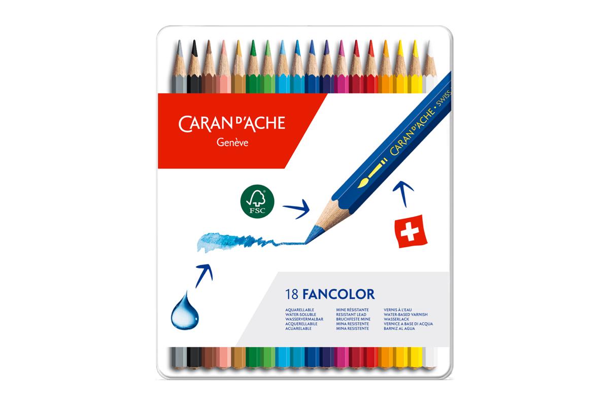 Caran d'Ache Fancolor Kleurpotloden Blik van 18