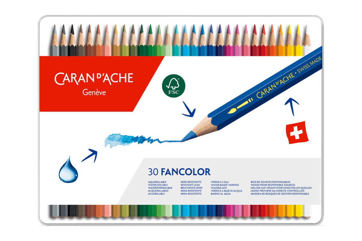 Caran d'Ache Fancolor Kleurpotloden Blik van 30
