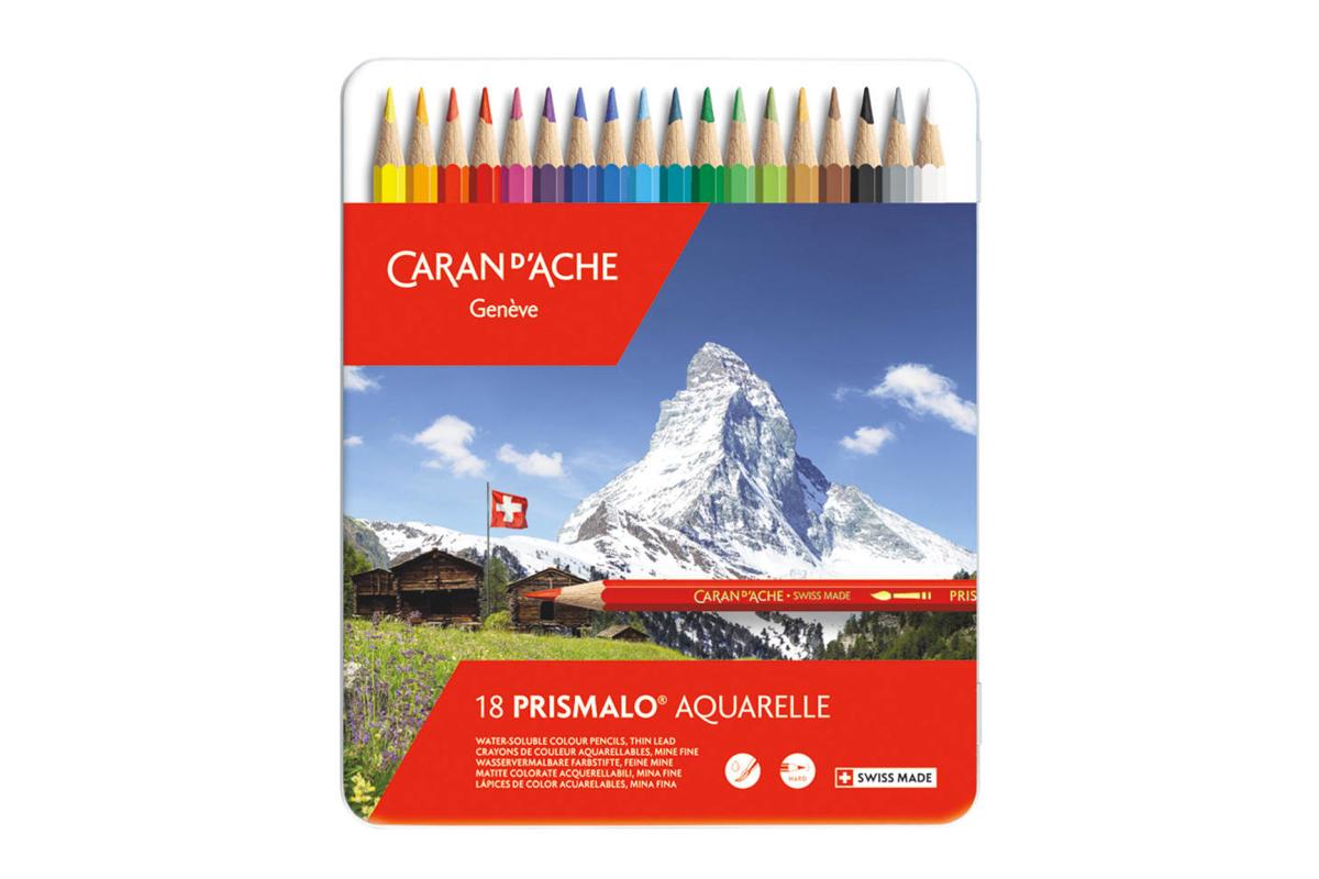 Caran d'Ache Prismalo Aquarel Kleurpotloden Blik van 18