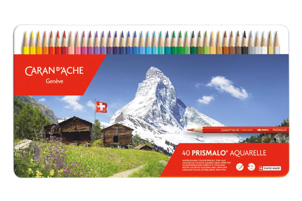 Caran d'Ache Prismalo Aquarel Kleurpotloden Blik van 40
