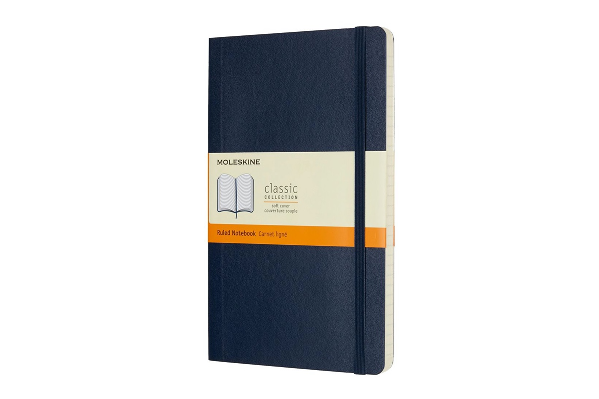 Moleskine Ruled Soft Cover Notebook Large Sapphire Blue