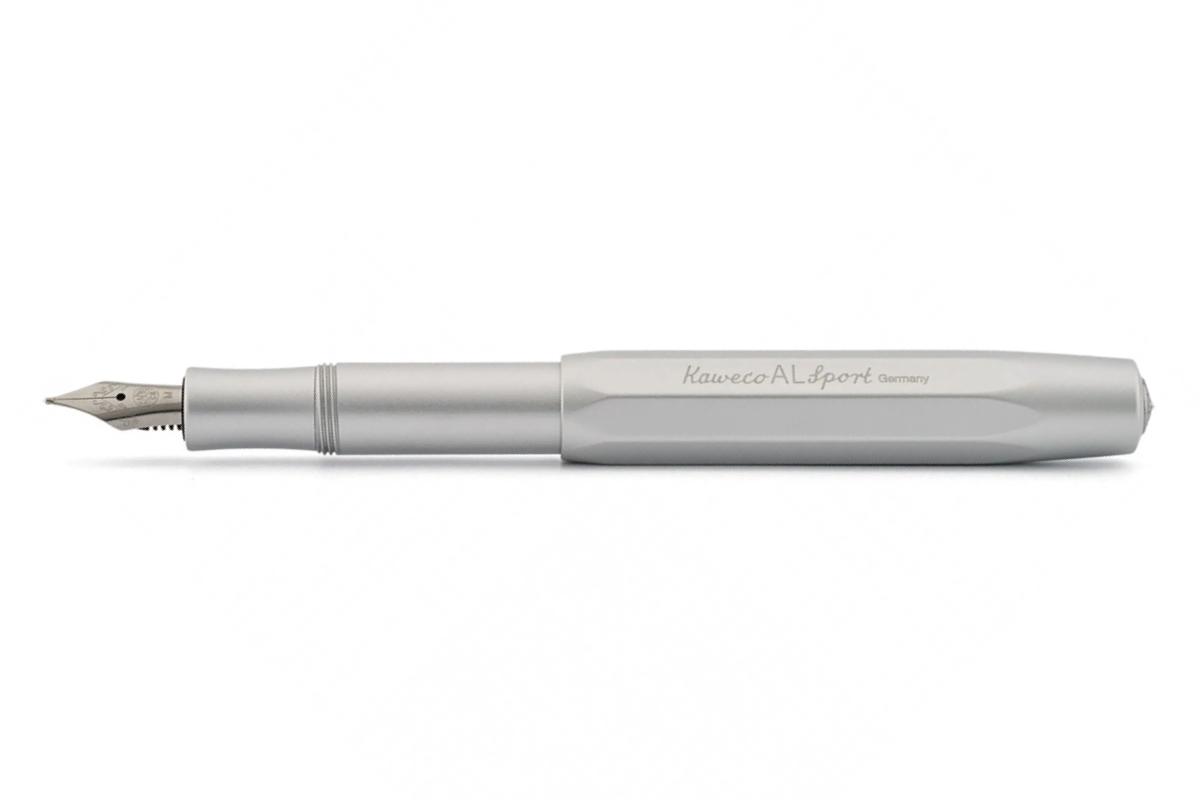 Kaweco Fountain Pen AL Sport Silver Aluminum Fine Nib 10000091