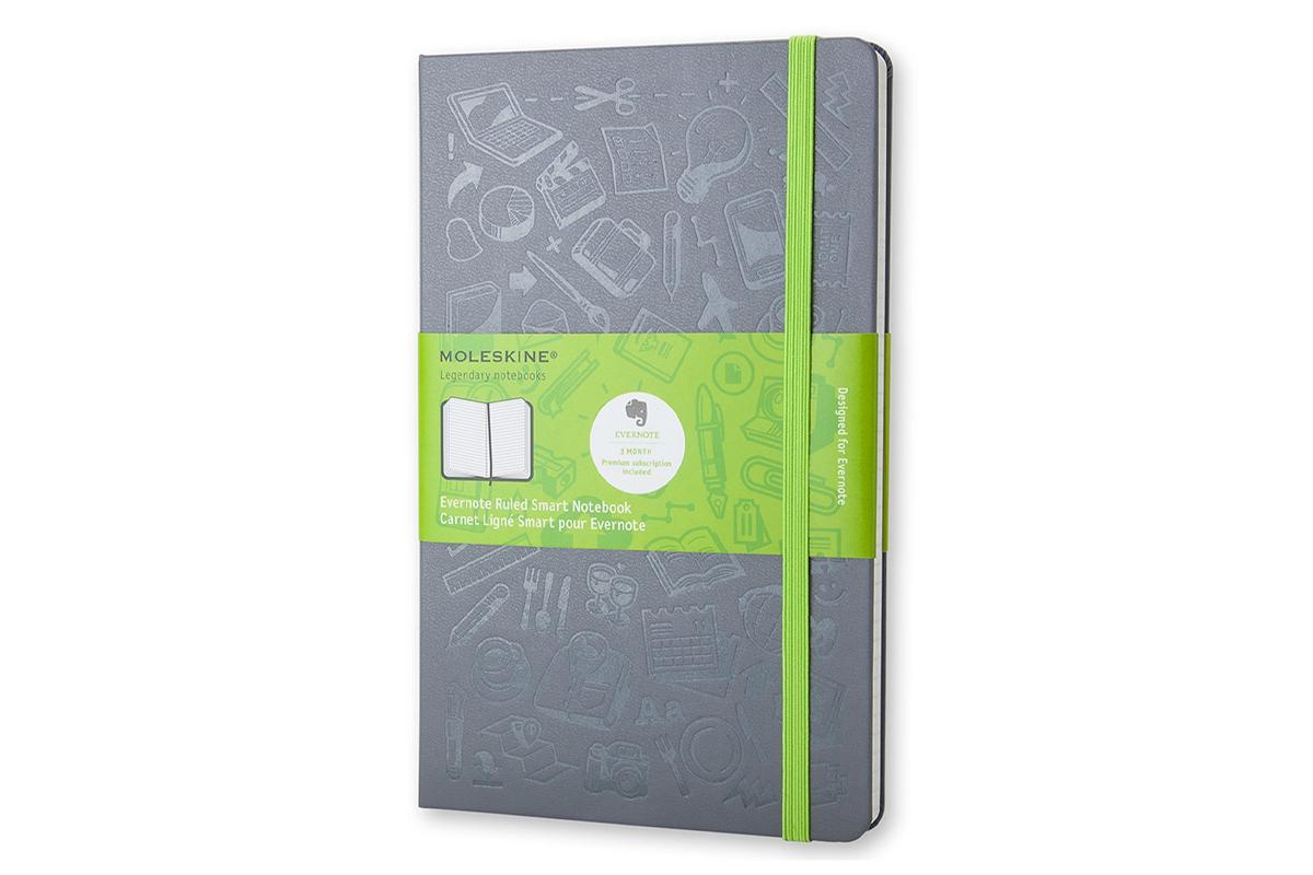 Moleskine Evernote Squared Notebook Large Hard Cover Grey