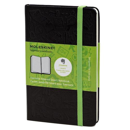 Moleskine Evernote Squared Smart Notebook Pocket Hard Cover Black