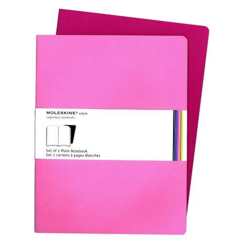 Moleskine Volant Plain Notebook XL Pink