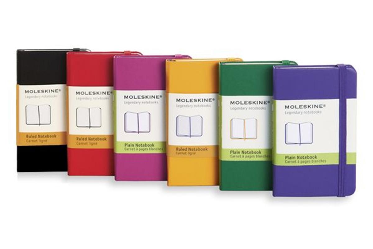 Moleskine Plain Hard Cover Notebook XS Yellow Orange