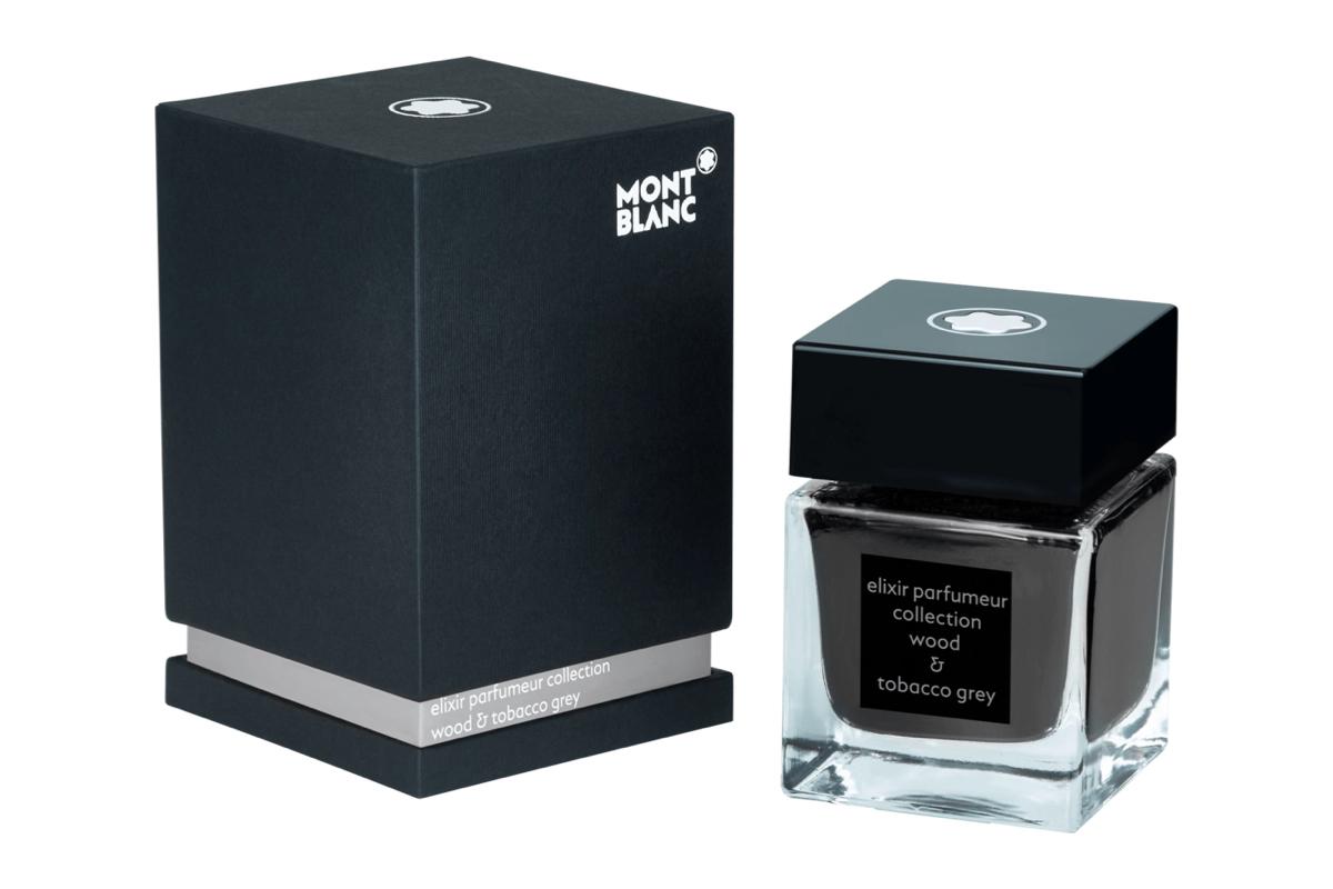 Montblanc Ink Bottle 50ml Elixir Wood & Tobacco Grey