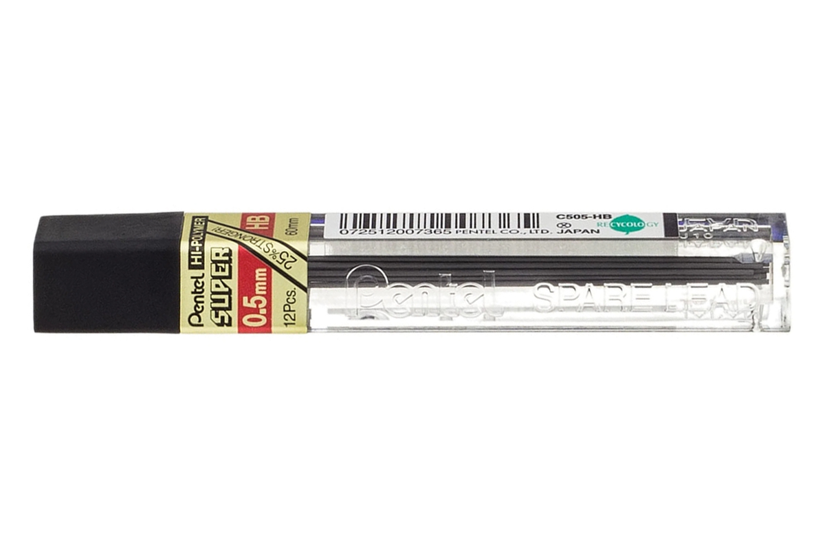 Pentel Pencil Leads 2H 0.5mm