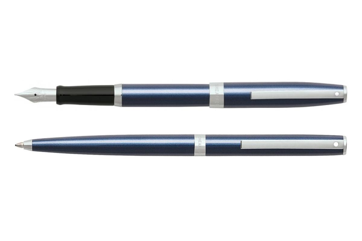Sheaffer Sagaris Metallic Blue CT Vulpen en Balpen Set