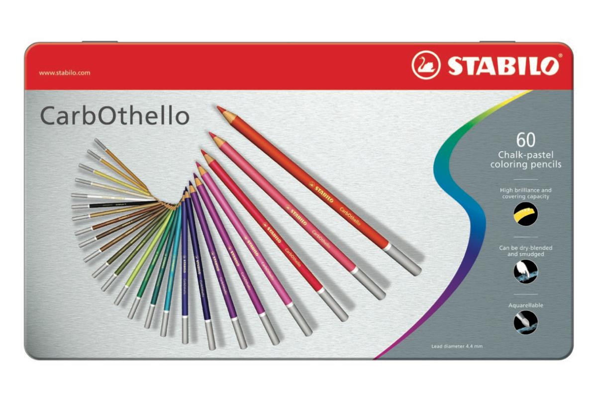 Stabilo CarbOthello Chalk Pastels Tin 60 pcs
