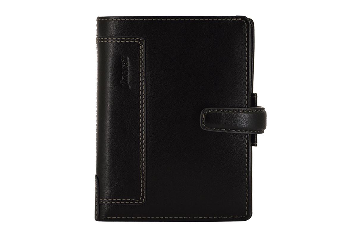 Filofax Pocket Holborn Black Organiser