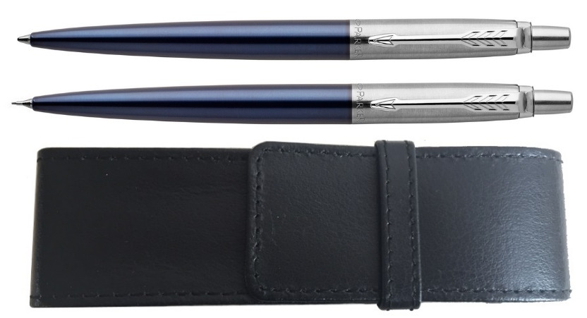 Parker Jotter Royal Blue CT Balpen + Vulpotlood set + Etui