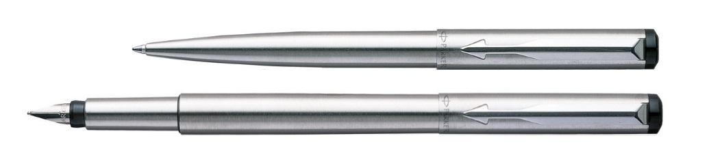 Parker Vector Steel set balpen + vulpen